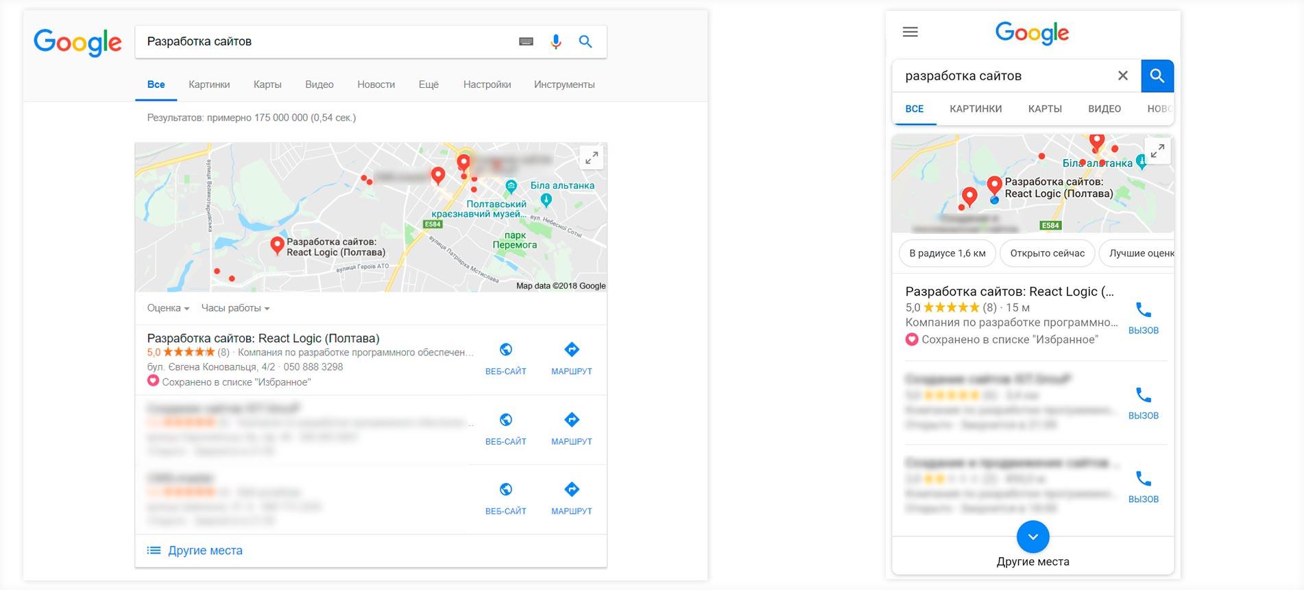 Google Мой бизнес в SEO